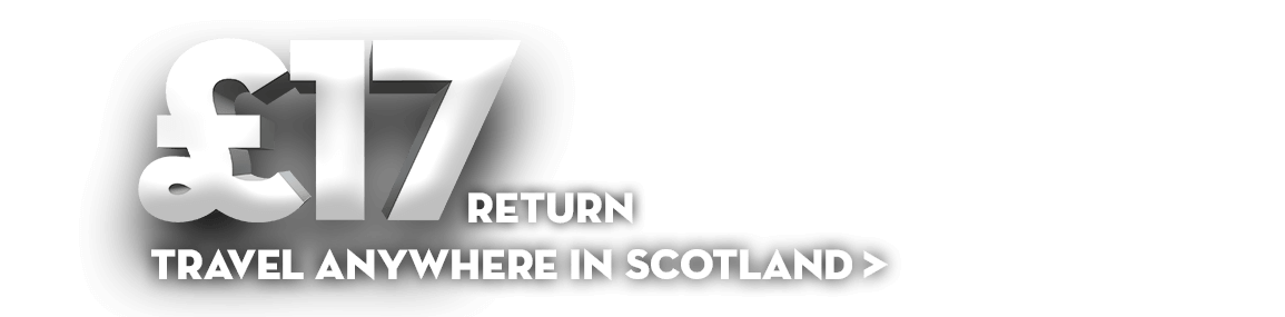 £17 return travel anywhere in Scotland - get thrifty with Club 50