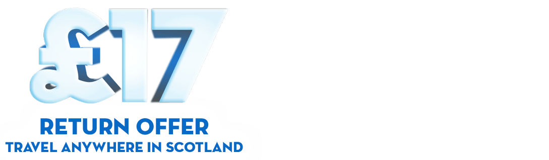 Travel anywhere in Scotland with the Club 50 £17 flat fare return ticket offer