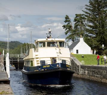 Clyde Cruises boat on the Caledonian Canal