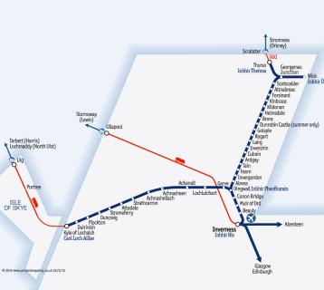 Great Scenic Rail Journeys route map for Far North and Kyle lines