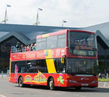 City Sightseeing Glasgow open top bus