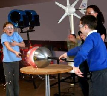 Children playing at Aberdeen Science Centre