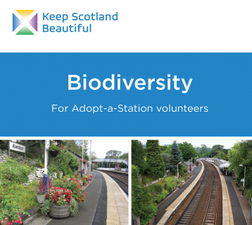Keep Scotland Beautiful Biodiversity toolkit cover for Adopt a Station volunteers