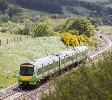 Train on the Borders Railway