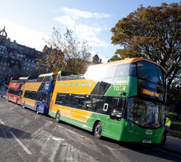 Edinburgh Bus Tours buses