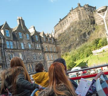 Edinburgh open top bus tour