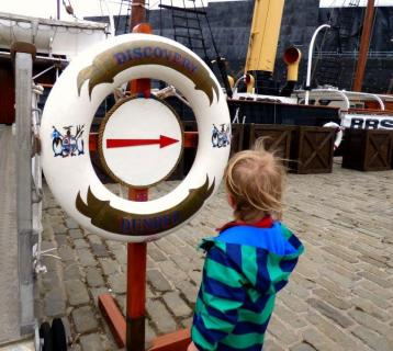Jenny Eaves' son at RSS Discovery Dundee