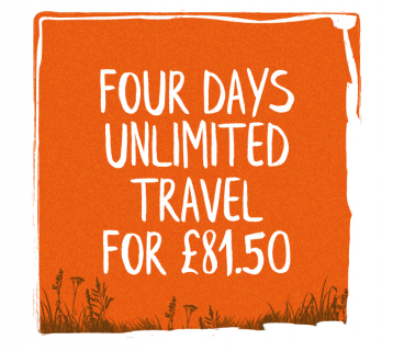 Four days unlimited travel for £81.50