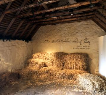 Straw bales in the Robert Burns Birthplace Museum