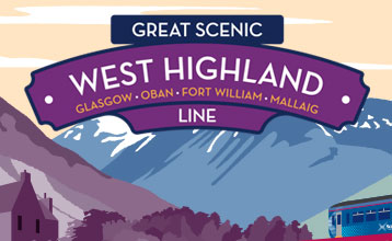 Great Scenic Rail Journeys West Highland Line illustration
