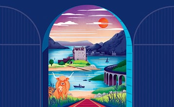Combined tickets Highland Rover illustration