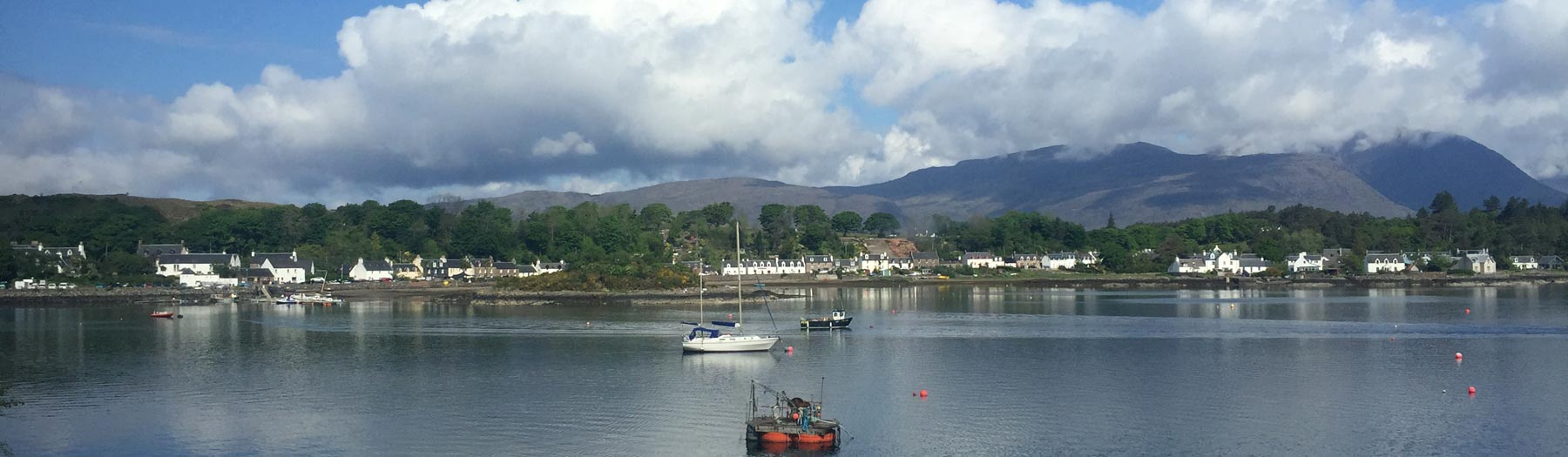 View of Plockton from the train on the Kyle Line