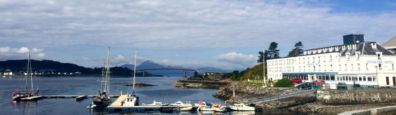 Lochalsh Hotel and view of Skye Bridge