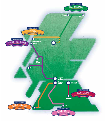 Great Scenic Rail Journeys overview map