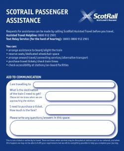 Passenger Assistance Card