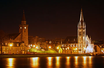 Night Time Illuminations On The River Ness