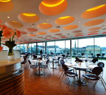 Interior of Harvey Nichols' Fourth Floor Brasserie