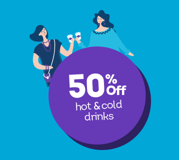 Club 50 soft drinks offer