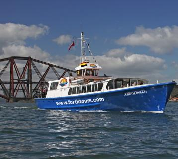 Forth Belle tour boat on the Firth of Forth