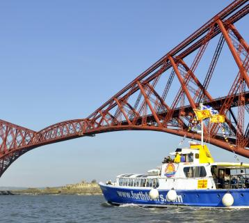 Forth Tours boat at Forth Bridge