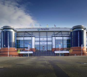 External view of Hampden Park stadium