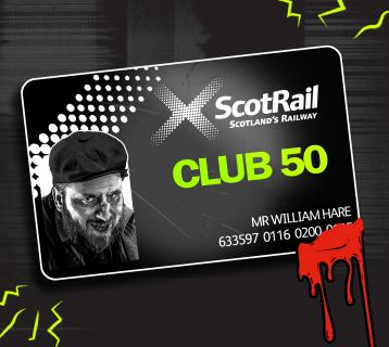 Club 50 The Edinburgh Dungeon Smartcard