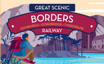 Great Scenic Rail Journeys Borders Railway illustration