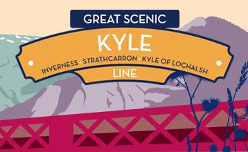 Great Scenic Rail Journeys Kyle Line illustration