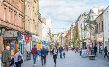 Image: Perth High Street. Credit: Image republished with kind permission of VisitScotland.