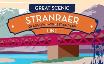 Great Scenic Rail Journeys Stranraer Line illustration