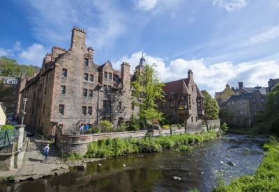 River and buildings in Dean Village