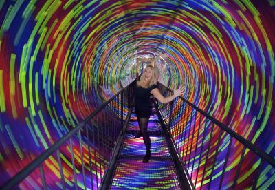 Visitor in the Vortex at Camera Obscura and World of Illusions