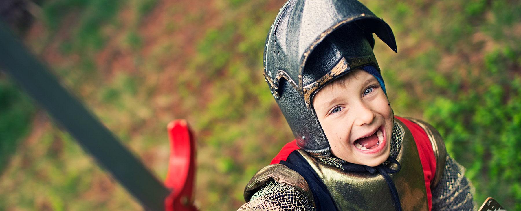 Kids Go Free image, a boy in a Knight's costume