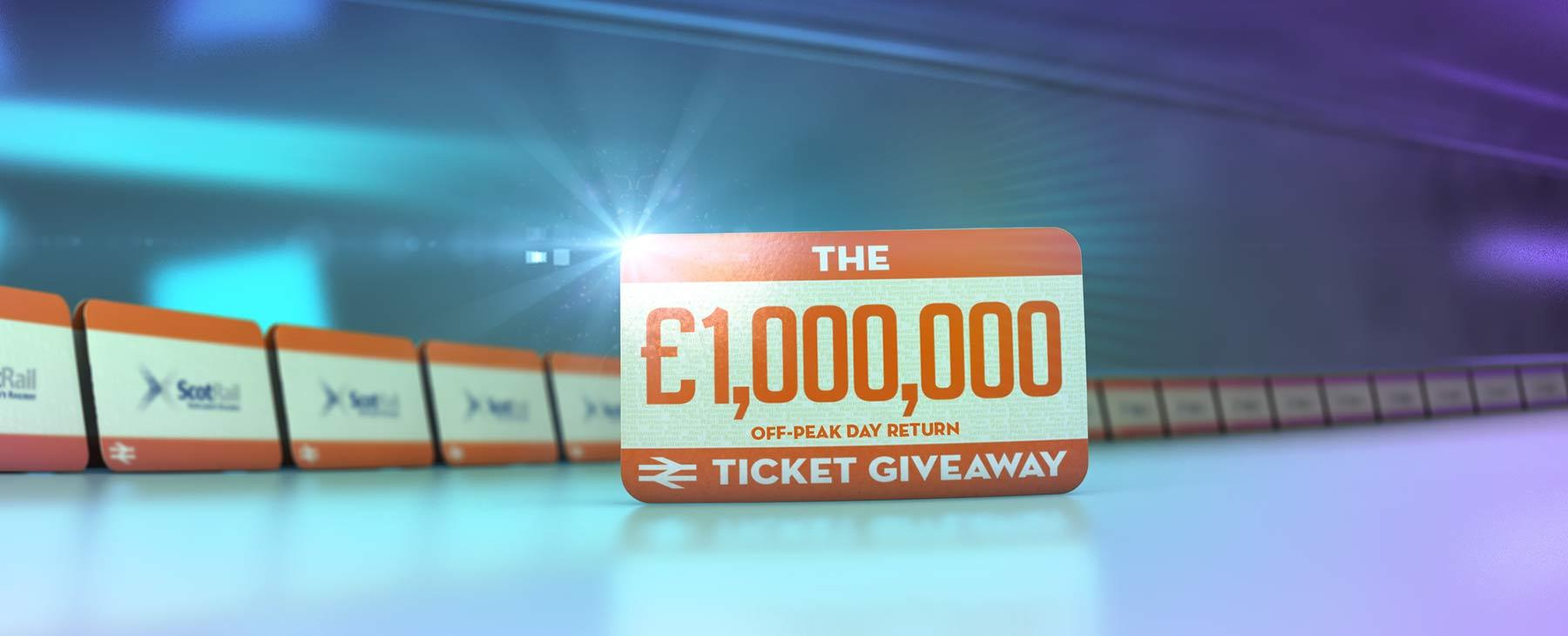 The £1,000,000 off-peak day return ticket giveaway