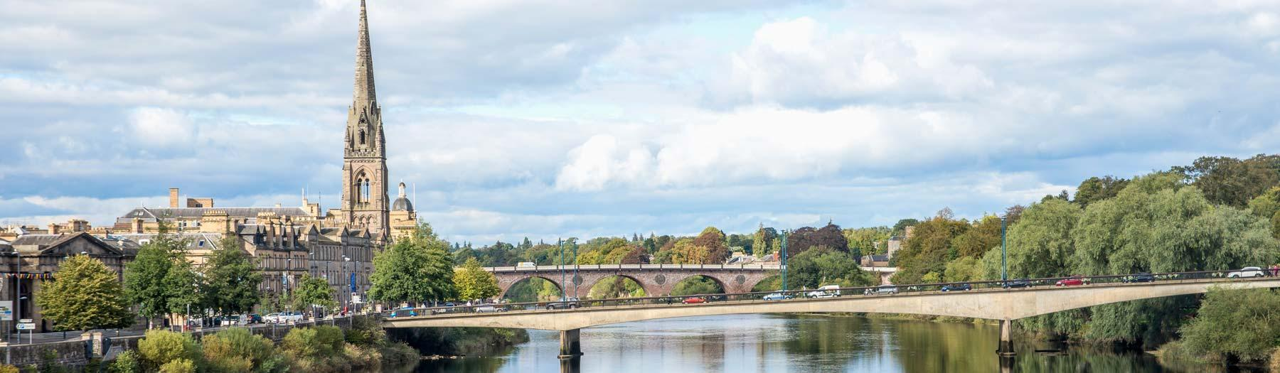 Image: Perth and the River Tay. Credit: Image republished with kind permission of VisitScotland.