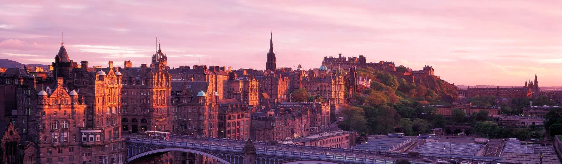 Image: Edinburgh Skyline. Credit: Image used with permission from VisitScotland and Scottish Viewpoint.