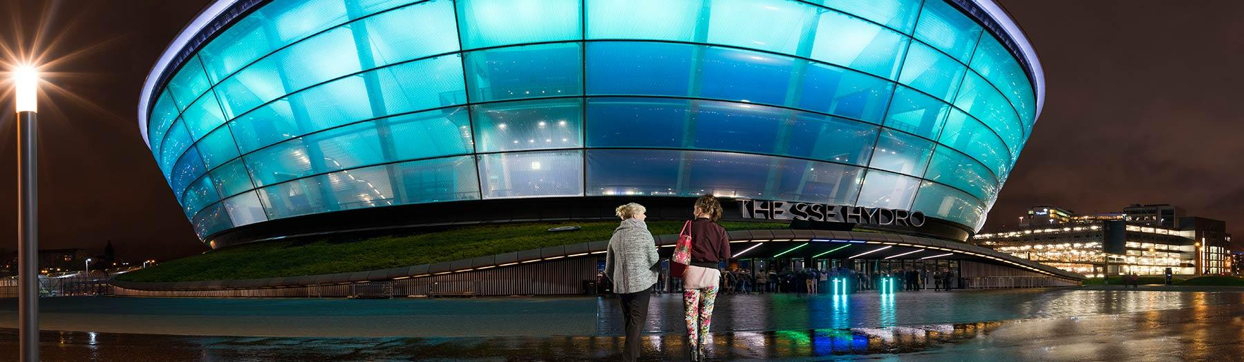 The SSE Hydro at night