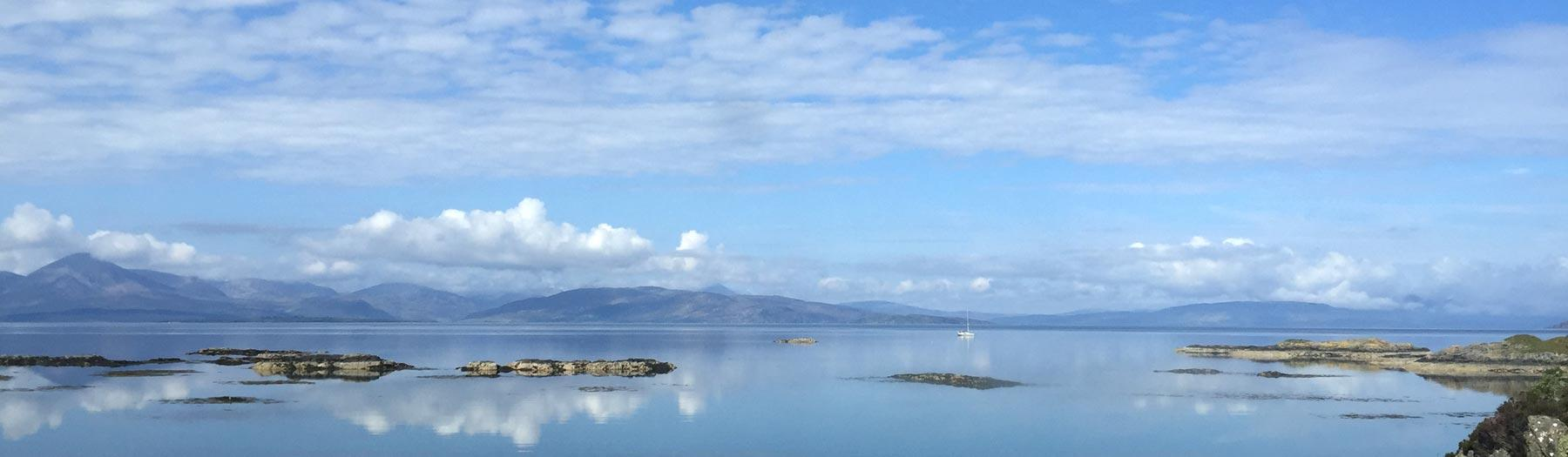 View of Skye from a train on the Kyle Line