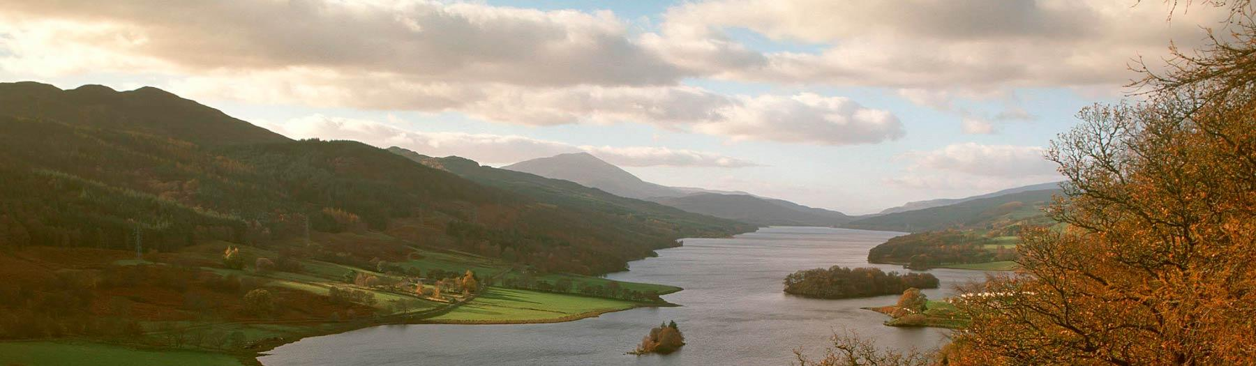 Image: Loch Tummel from Queen's View. Credit: Image used with permission from VisitScotland and Scottish Viewpoint.