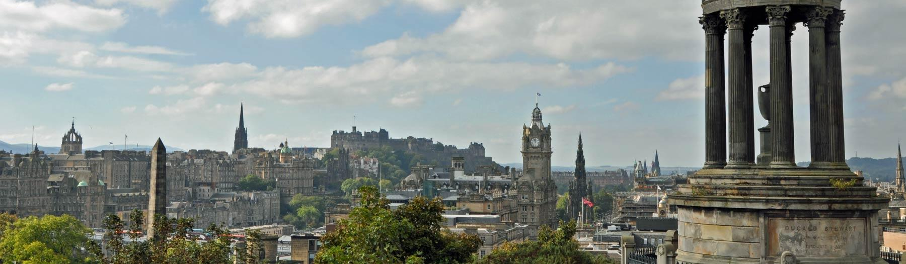 Image: Edinburgh skyline. Credit: Marketing Edinburgh.
