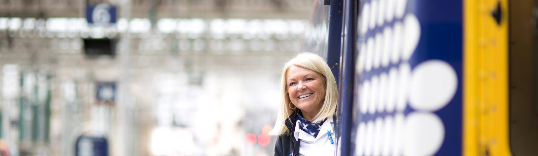 ScotRail smiling staff member
