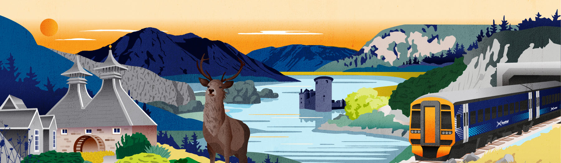 Spirit of Scotland illustration