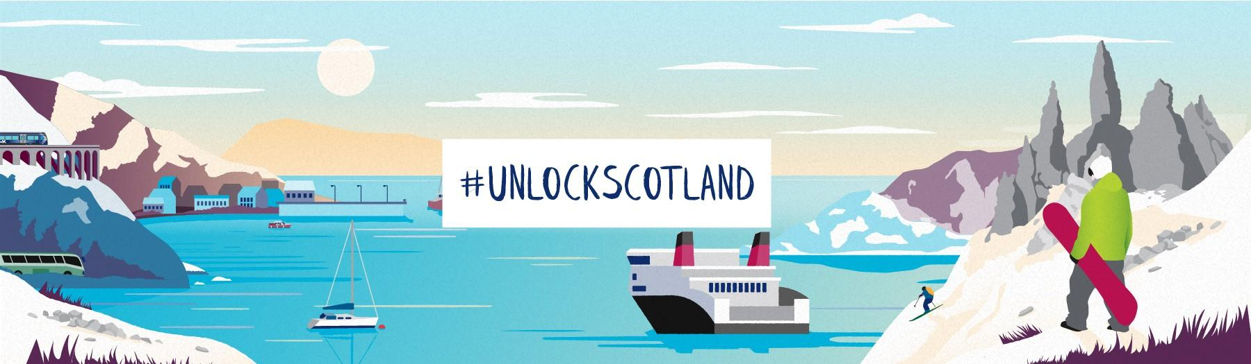 Spirit of Scotland winter illustration #unlockscotland
