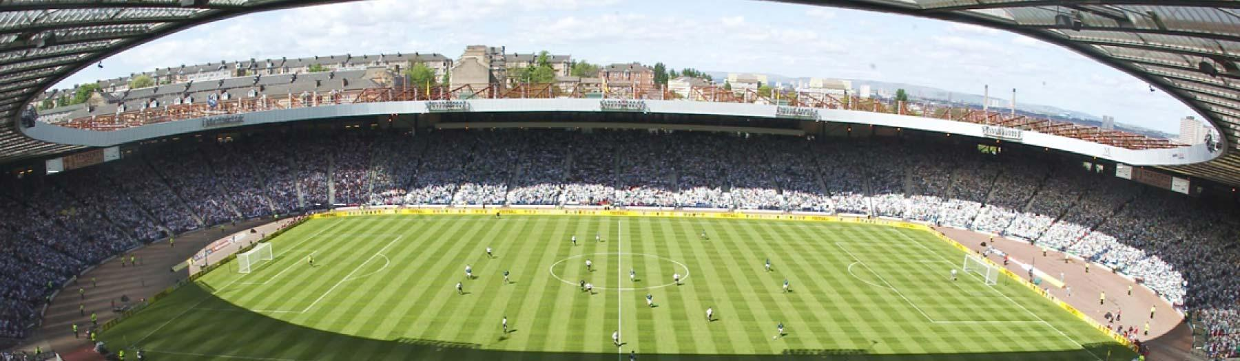 Image: Hampden Park, Glasgow. Credit: Image republished with kind permission of Greater City Marketing Bureau.