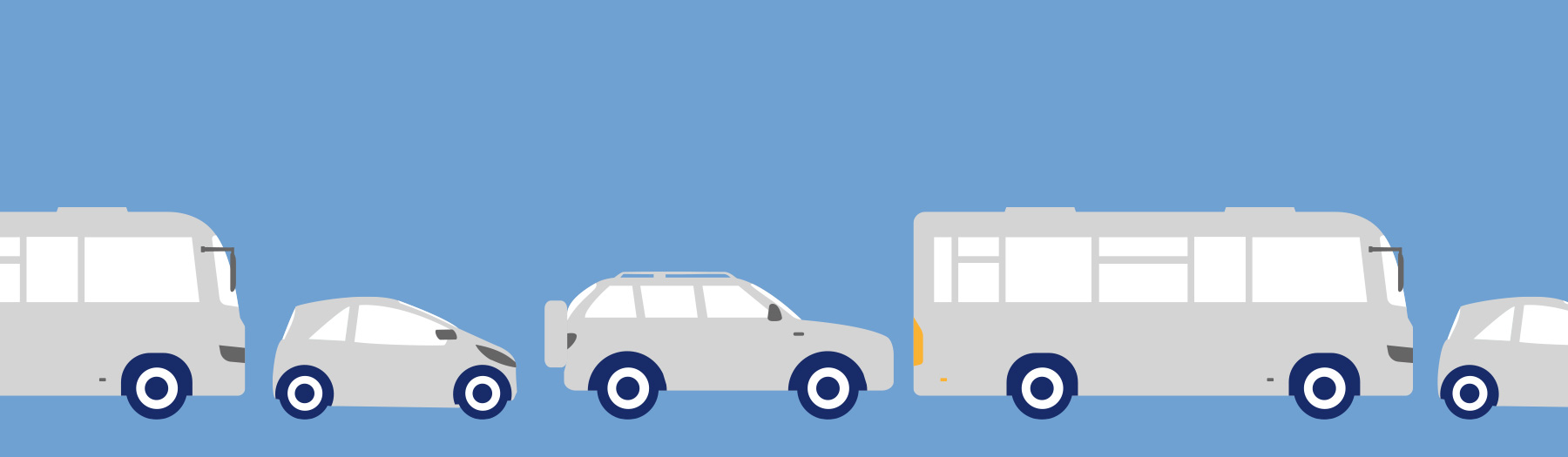 Illustration of cars and buses