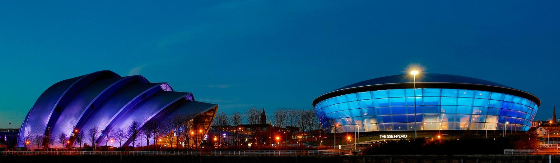 Image: The Armadillo and the SSE Hydro. Credit: Neale Smith.