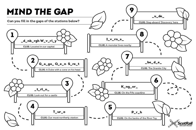 Mind the Gap puzzle