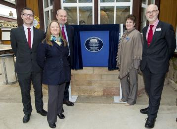 Award plaque unveiled at Gleneagles station