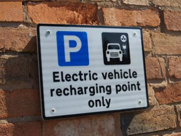Electric vehicle recharging point only