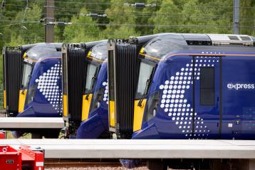 Class 385 trains at Millerhill